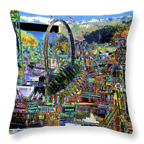 Art Throw Pillow featuring the painting State Fair by David Lee Thompson