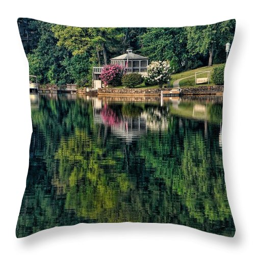 Landscape Throw Pillow featuring the photograph Still Waters by Rick Friedle