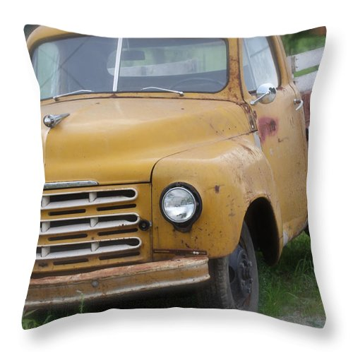 Studebaker Throw Pillow featuring the photograph Studebaker by Jane Coenen
