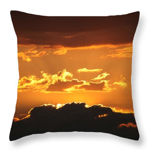 Sunset Throw Pillow featuring the photograph Sunset by Francesco Scali