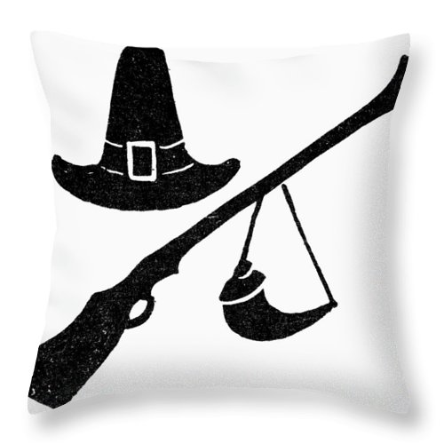 American Throw Pillow featuring the photograph Symbol: Thanksgiving by Granger