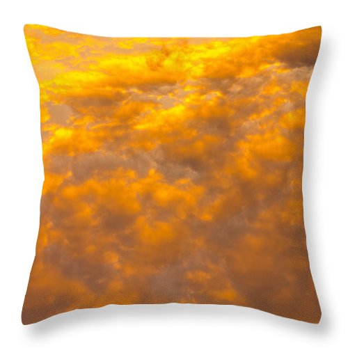 Skies Throw Pillow featuring the photograph Tangerine Sky by David Pyatt