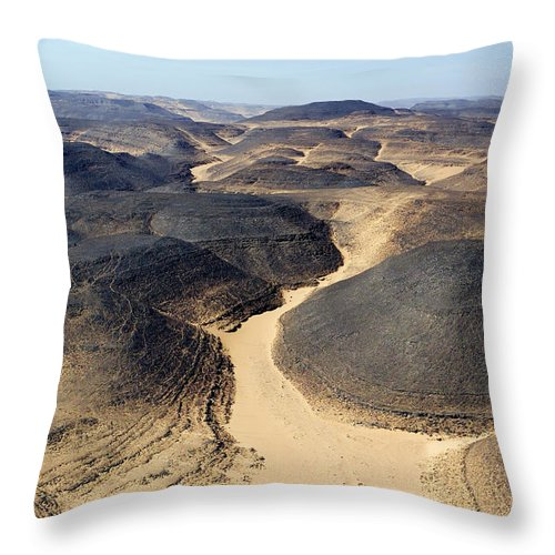 Landscape Throw Pillow featuring the photograph The Barren Yet Beautiful Basalt by Michael Fay