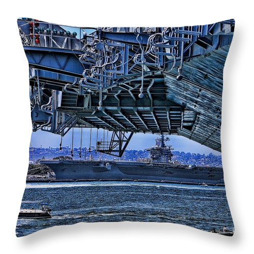Aircraft Carriers Throw Pillow featuring the photograph The Carriers by Tommy Anderson