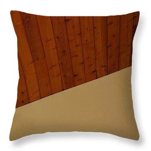 Brown Throw Pillow featuring the photograph The Corner by Rob Hans