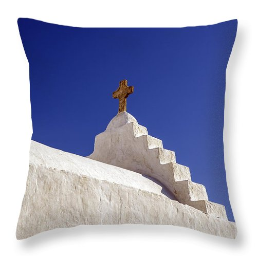 Church Dome Throw Pillow featuring the photograph The Cross by Joana Kruse