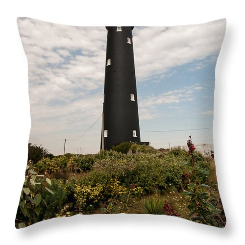 Boat Throw Pillow featuring the photograph The Old Lighthouse by Dawn OConnor