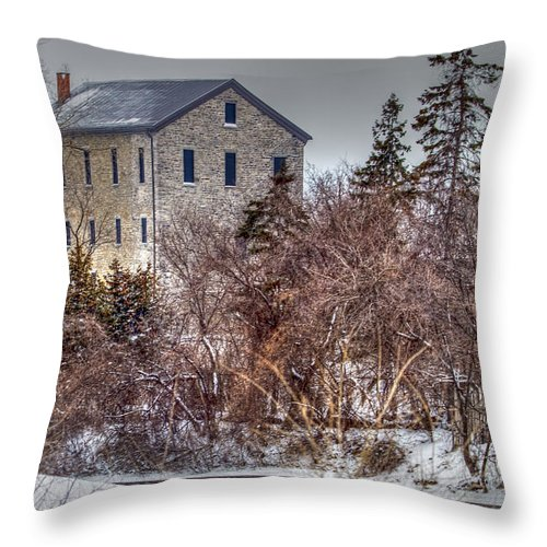 Old Throw Pillow featuring the photograph The Old Mill by Bill Lindsay