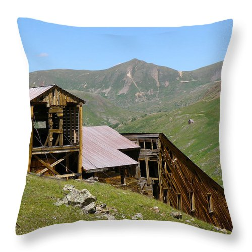 Sound Democrat Mill Throw Pillow featuring the photograph The Sound Democrat Mill by FeVa Fotos