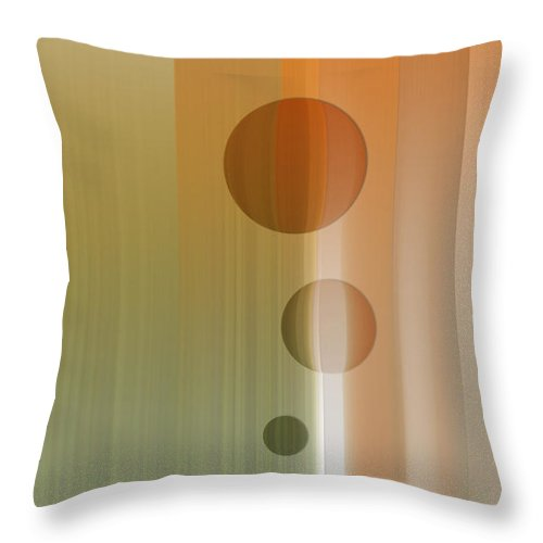 Abstract Throw Pillow featuring the digital art Thinking by Are Lund