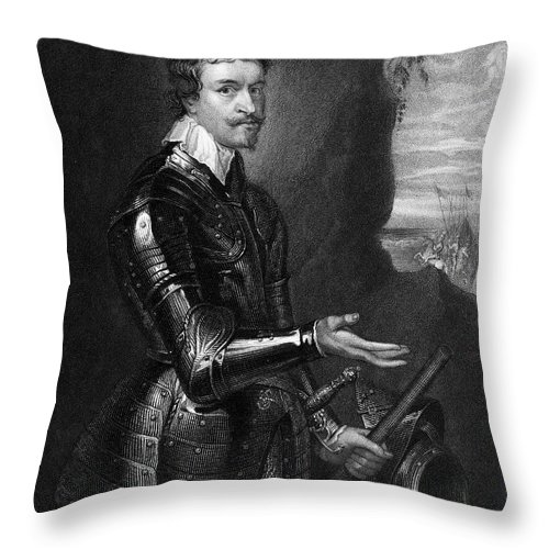 17th Century Throw Pillow featuring the photograph Thomas Wentworth by Granger