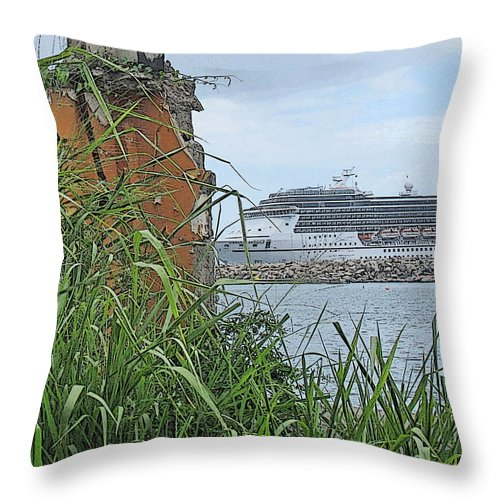 Cruise Throw Pillow featuring the photograph Thrust by Ian MacDonald
