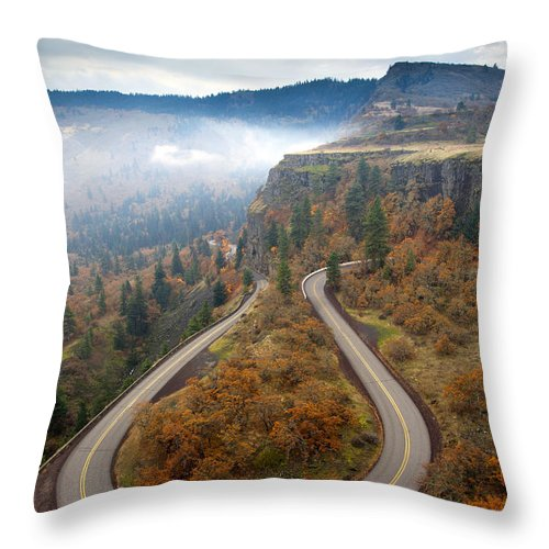 Tight Corner Throw Pillow featuring the photograph Tight Corner by Mike Dawson