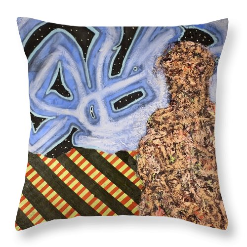 � Throw Pillow featuring the painting Train 2 by JC Armbruster
