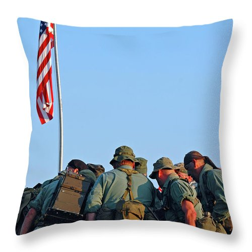 Veterans Throw Pillow featuring the photograph Veterans Remember by Carolyn Marshall