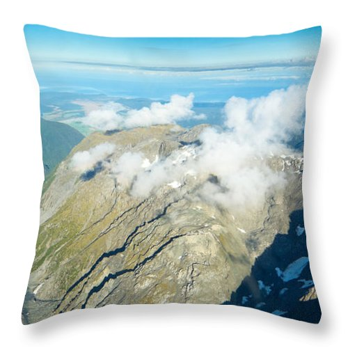 Alps Throw Pillow featuring the photograph View On To Fox Glacier In South New Zealand by U Schade