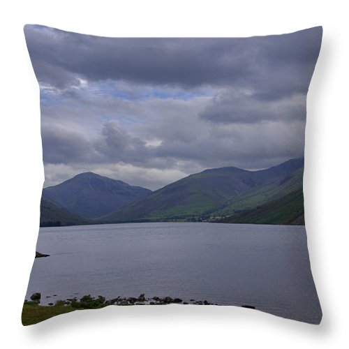 Wastwater Throw Pillow featuring the photograph Wastwater Lake District by Trevor Kersley