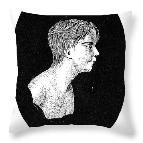 1801 Throw Pillow featuring the photograph Wild Boy Of Aveyron by Granger