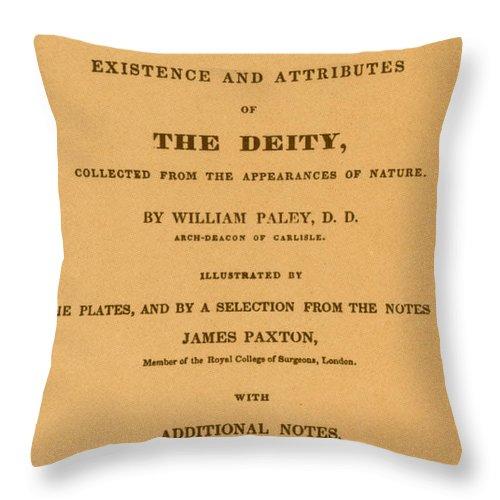 William Paleys, Natural Theology Throw Pillow
