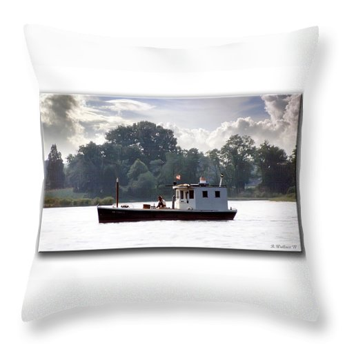 2d Throw Pillow featuring the photograph Workboat by Brian Wallace
