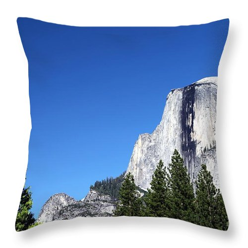 Nature Throw Pillow featuring the photograph Yosemite Half Dome by Henrik Lehnerer
