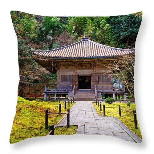 Ancient Throw Pillow featuring the photograph Zen Garden At A Sunny Day by U Schade