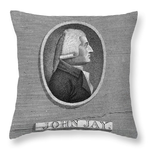 1804 Throw Pillow featuring the photograph John Jay (1745-1829) by Granger