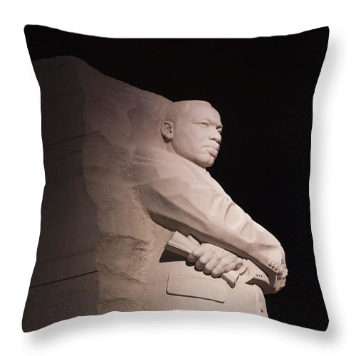 Martin Luther King Jr Throw Pillow featuring the photograph Martin Luther King Jr Memorial by Theodore Jones