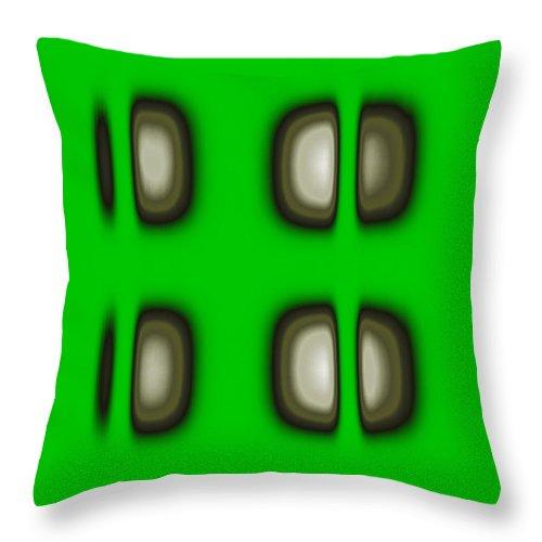 Digital Graphic Throw Pillow featuring the digital art Follow The Lights by Mihaela Stancu