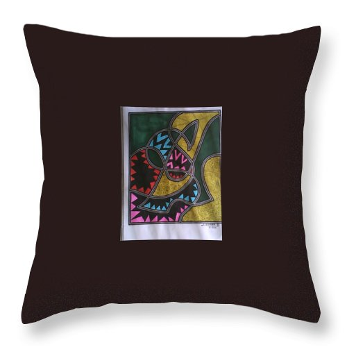 Abstract Throw Pillow featuring the painting Untitled by Jerry Conner