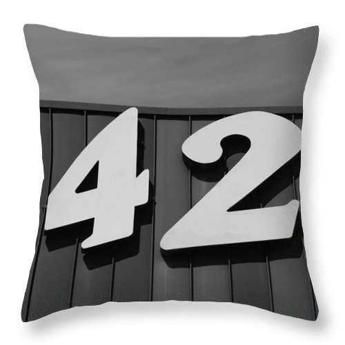 Black And White Throw Pillow featuring the photograph 1421 by Rob Hans