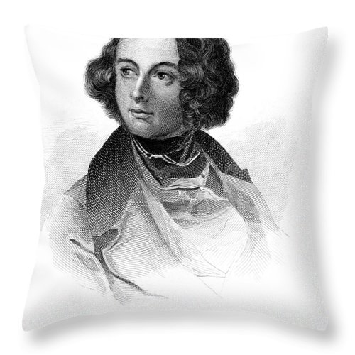19th Century Throw Pillow featuring the photograph Charles Dickens (1812-1870) by Granger