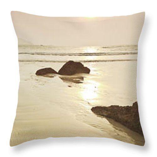 Panorama Throw Pillow featuring the photograph Sunrise by MotHaiBaPhoto Prints