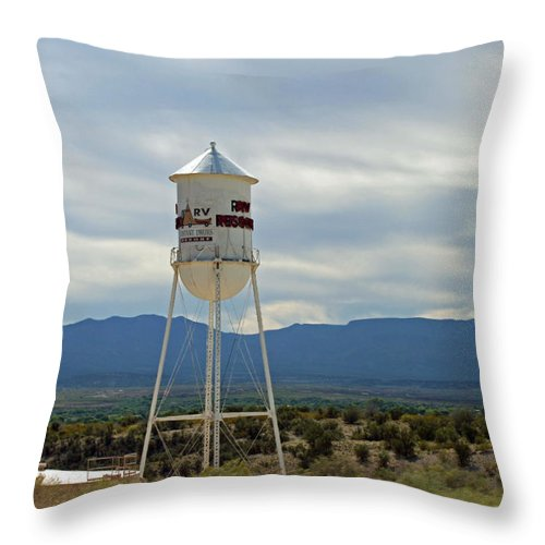 Silos Throw Pillow featuring the photograph 17 by Caroline Lomeli