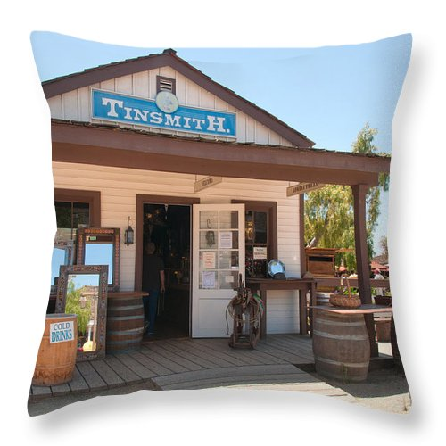 Architecture Throw Pillow featuring the digital art Old Town San Diego by Carol Ailles