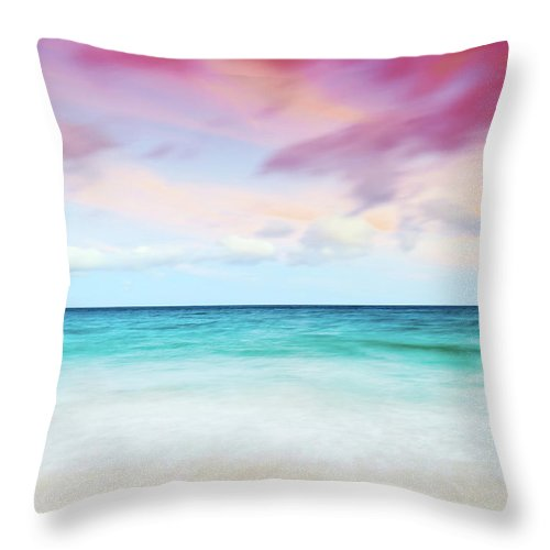 Seascape Throw Pillow featuring the photograph Sunrise by MotHaiBaPhoto Prints