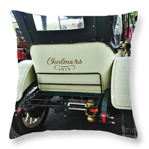Photography Throw Pillow featuring the photograph 1913 Chalmers - Detroit by Kaye Menner