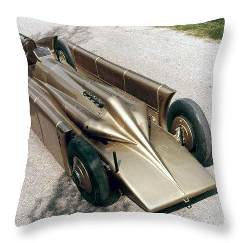 1929 Throw Pillow featuring the photograph 1929 Golden Arrow by Granger