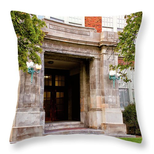 Doorway Throw Pillow featuring the photograph 1929 by Rachel Cohen