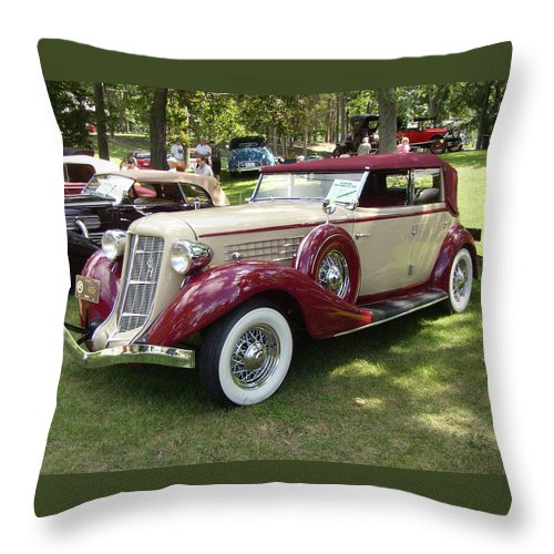 1930 Buick Throw Pillow featuring the photograph 1930 Buick by Randy J Heath
