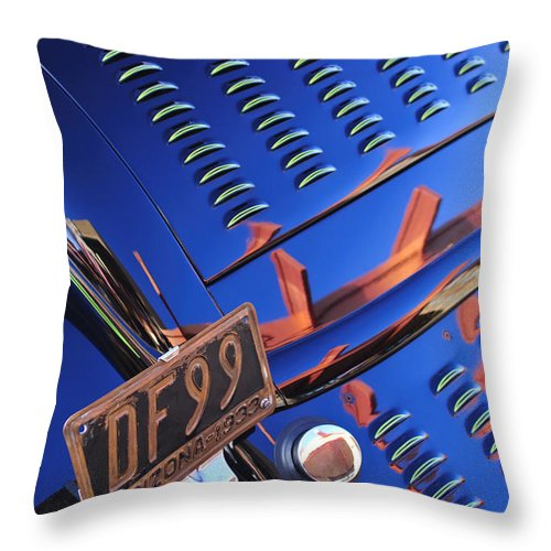 1932 Ford Throw Pillow featuring the photograph 1932 Ford Taillight License Plate by Jill Reger