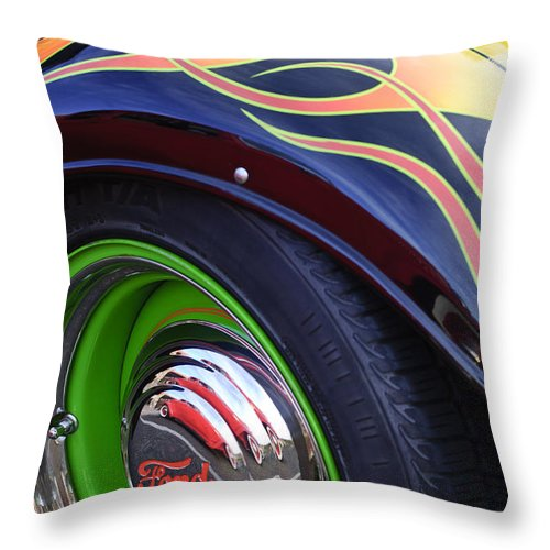 1933 Ford Throw Pillow featuring the photograph 1933 Ford Wheel by Jill Reger