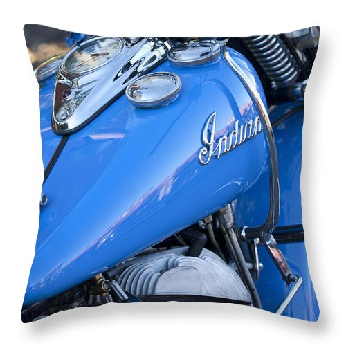 1948 Indian Chief Motorcycle Throw Pillow featuring the photograph 1948 Indian Chief Motorcycle by Jill Reger