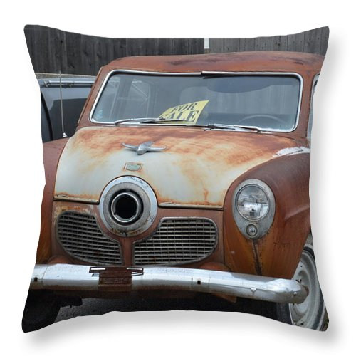 1951 Studebaker Throw Pillow featuring the photograph 1951 Studebaker by Randy J Heath