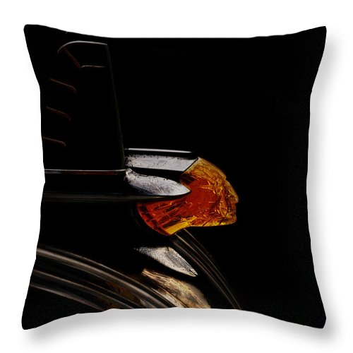 Vintage Throw Pillow featuring the digital art 1953 Pontiac Indian Chief by Douglas Pittman