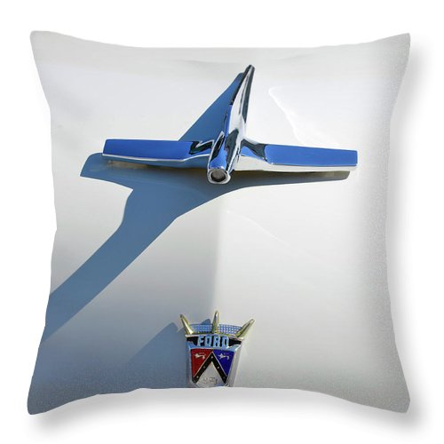 Ford Throw Pillow featuring the photograph 1955 Ford by Paul Mashburn