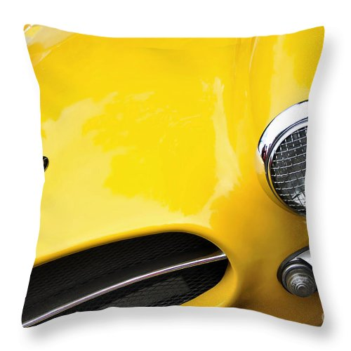 Photography Throw Pillow featuring the photograph 1956 Buckle Gt Coupe - Badge Grill Headlight by Kaye Menner