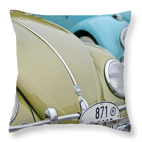 1956 Volkswagen Vw Bug Throw Pillow featuring the photograph 1956 Volkswagen Vw Bug by Jill Reger