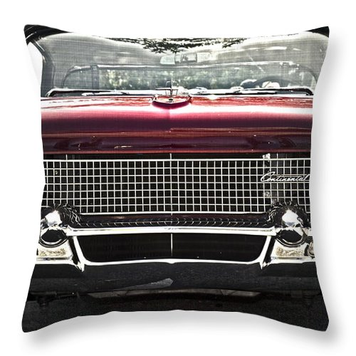 Lincoln Continental Throw Pillow featuring the photograph 1958 Lincoln Continental by Gwyn Newcombe