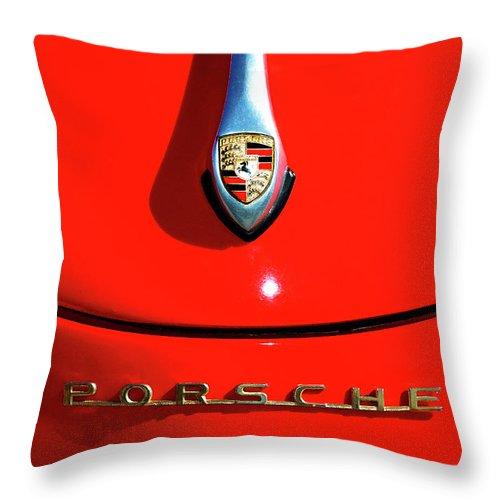 Porsche Throw Pillow featuring the photograph 1959 Porsche by Paul Mashburn